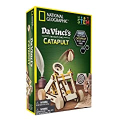 BUILD A TABLETOP CATAPULT based on ancient designs! Then learn about Leonardo da Vinci's proposed improvements to this ultimate medieval artillery weapon. SEND PROJECTILES UP TO 15 FEET! Each model is fully functional; the kit comes with 15 projectil...