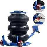 Anbull Gato Neumático de 3 Bolsas Capacidad de 3 Toneladas 6600lbs Gato Neumático para Automóvil Altura de Elevación de 400mm 15.7 Pulgadas Pneumatic Jack