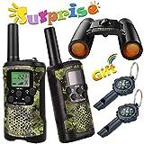 Walkie Talkie for Kids Binoculars for Kids Compass Outdoor Toys Kit Long Range Walkie Talkies...