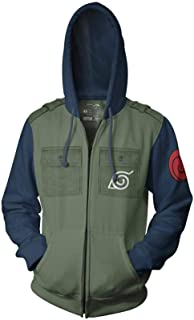 Ripple Junction Naruto - Shippuden Kakashi Cosplay Military Style Adult Zip Hoodie