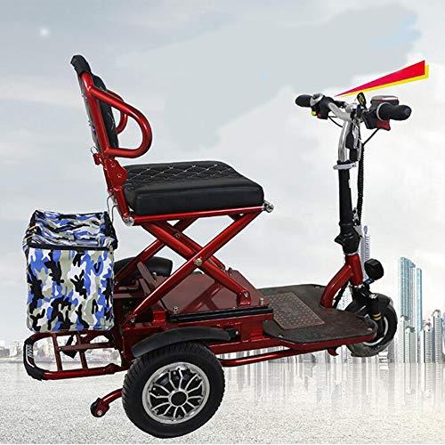 AA100 Ältere Elektroroller Klapp Dreirad 48v20A Doppelantrieb 700W Starke Leistung 50 km/Outdoor, Behinderte Elektro-Rollstuhl