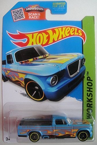HOT WHEELS SHOWDOWN SCAN & RACE! HW WORKSHOP BLUE '63 STUDEBAKER CHAMP #214/250 by Hot Wheels