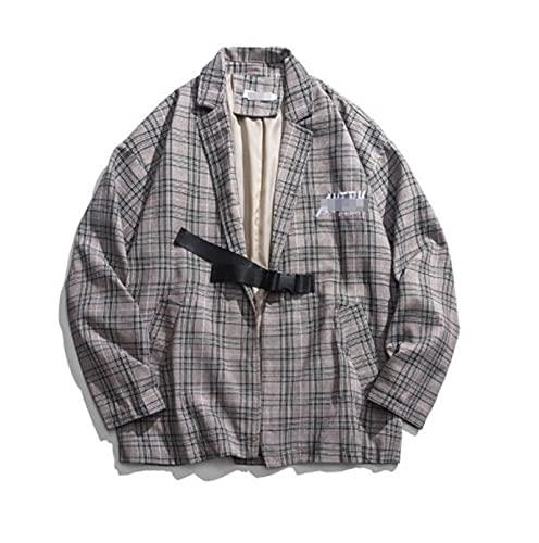 Mężczyźni Miękki sztruks Marynarka Płaszcz vintage dostosowanych garnitur kurtka,męskie Sprawdź Retro ząbkiem klapie jednorzędowy żakiet kurtka o luźnym klapa motyl haftowane marynarkę