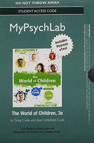 NEW MyLab Psychology with Pearson eText -- Standalone Access Card -- for The World of Children (3rd Edition)