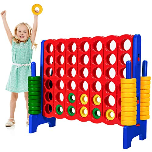 """Safeplus Giant 4 in A Row Classic Game Set, 47"""" Jumbo 4-to-Score Toy Set,Fun Indoor & Outdoor Connect Four Games for Kids Adults Family Party"""