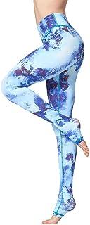 Yoga Pants Vintage Fitness Yoga Pants Slim High Waist Sport Leggings Gym Girls Elastic Printed Tights For Running Jogging ...