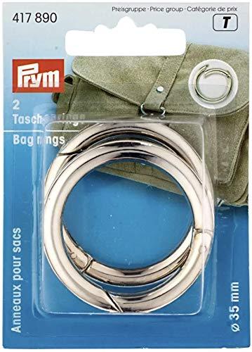 Prym 417890 - Taschenringe 35 mm silberfarbig