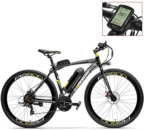 Ebikes, 700C Pedal Assist Electric Bike 36V 20Ah Battery 350W Motor Aluminium Alloy Airfoil-shaped Frame Both Disc Brake 20-35km/h Road Bicycle (Color : Graylcd, Size : Plus 1 Spare Battery)