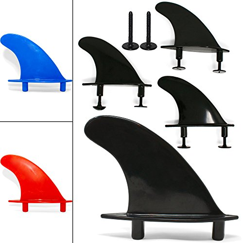 South Bay Board Co. - Universal Soft Top Surfboard Fins - Safe Round-Edged Fins for Foam Surf Boards (Black)