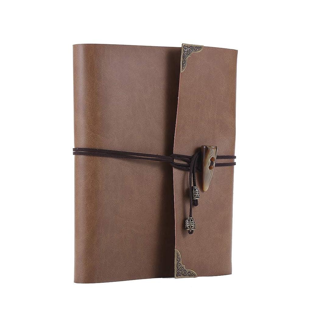 YPSelected Leather Vintage Large Photo Album DIY Scrapbook (Light Brown, Large)