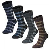Lavazio 12 24 oder 36 Paar Herren Freizeit Business Socken mit Blockstreifen