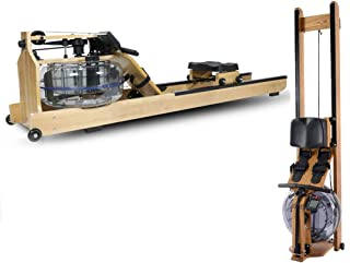 Foldable Water Rower Machine, Waterrower Rowing Machine Function Application, Aerobic Fitness Equipment Silent Wooden Wate...