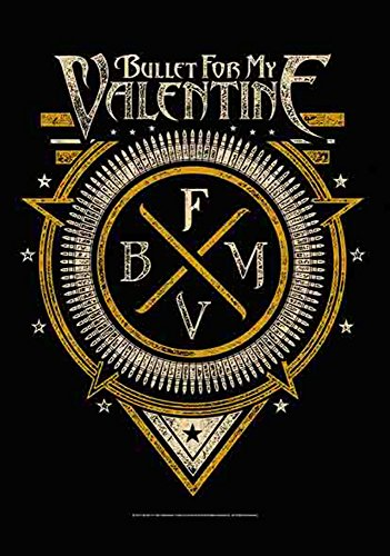 Bullet For My Valentine – Symbole – poster drapeau – 100% Polyester – Taille 75 x 110 cm
