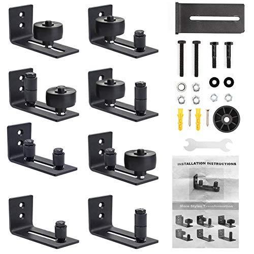 Bodenführung Schiebetür Verstellbare Boden Rollenführung mit Schrauben, 8 mögliche Varianten für ALLE Stalltüren, Perfekt Geeignet für alle Schiebetür