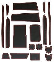 200系 ハイエース レジアスエース スーパーGL 3型 4型 専用 ゴム ラバー ポケットマット レッド 17点セット 傷 異音防止
