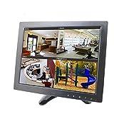 Sourcingbay YT10 CCTV Monitor 9.7 inch TFT LCD Screen with AV, HDMI, BNC, VGA Input for PC Security Cam CCTV DVR System Pixels 1024 x 768 (Black)