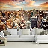 Murales de papel tapiz 3D personalizados rascacielos de EE. UU. Edificio de la ciudad de Nueva York pintura de pared dormitorio sala de estar sofá papel de pared decoración del hogar
