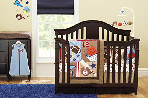 New 8 Pieces Baby Boy Sport Crib Bedding Set Baby Boy Sports Bedding