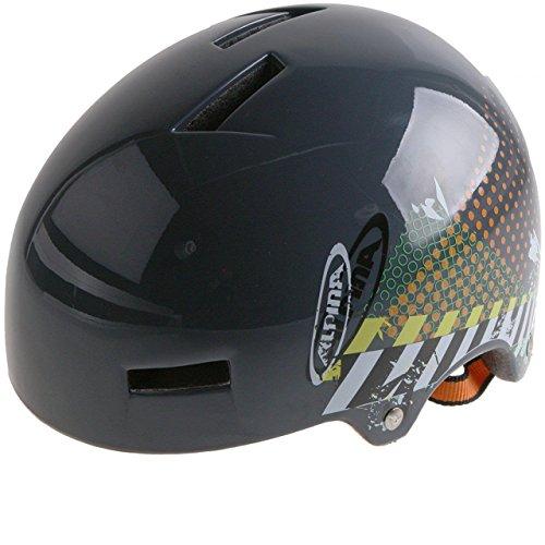 Alpina Airtime Grau Print Freeride BMX Helm, A9647, Größe 57 - 61 cm