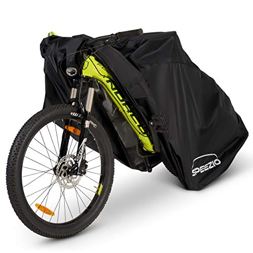 SPEEZIO Bike Cover for Outside Storage 190T Polyester Waterproof with PU & UV coating - Fit for Mountain and Road Bikes Up to 29 Inch with Lock Holes - Dust, Rust, and UV Protection