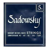 SADOWSKY SBN45B Blue ブルーラベル ニッケル 5弦ベース弦×2セット