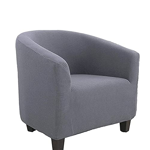 AMFG All-Inclusive Single Stretch Sofa Cover Club Card Seat Coffee Chair Restaurant Hotel halbkreisförmige Sesselabdeckung (Color : E)