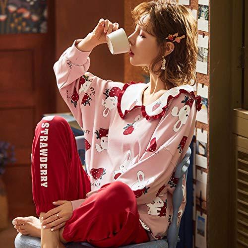 Cxypeng Ladies Comfy Pijamas Mujeres Soft,Conjunto de Pijama de algodón de Manga...