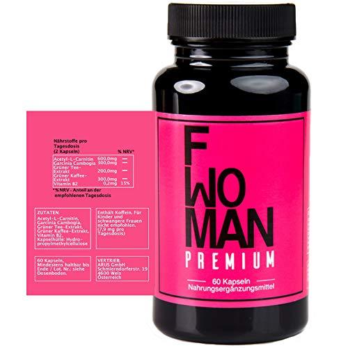 Valetudoo® F - WOMAN mit Garcinia Cambogia, Acetyl-L-Carnitin, Grüner Tee, Grüner Kaffee - Rezeptur speziell für Frauen; 60 Kapseln