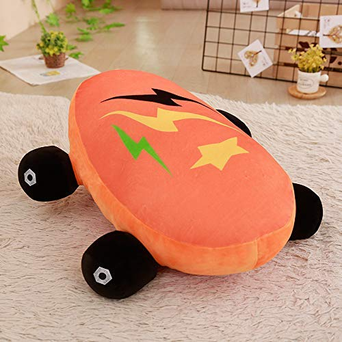 DINEGG Cartoon Skateboard Plüsch-Spielzeug-Puppe, Stuffed weiche PP Cotton Kissen, Baby-Schlafpuppe, for Kinder 60cm (orange) QQQNE
