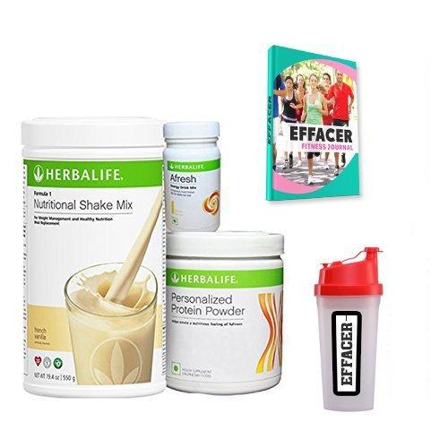 Herbalife F 1 Vanilla F 3 Protein Powder And Afresh Lemon - 500 g + Shaker + Effacer Fitness Journal