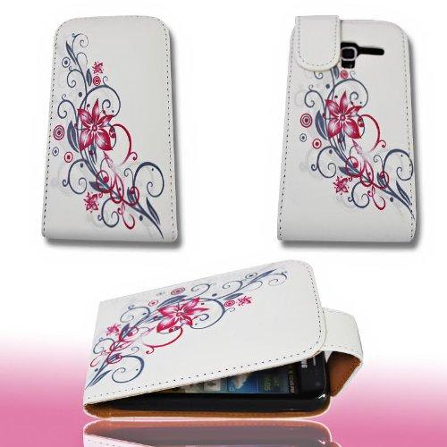 Handy Tasche Flip Style - Design No.2 - Cover Hülle Hülle  für Samsung i8160 Galaxy Ace 2