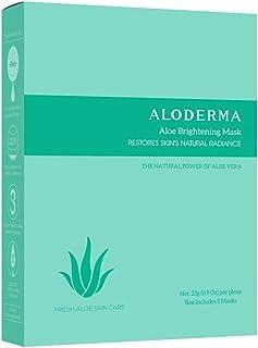Aloderma Aloe Brightening Mask - Set of 5, 25g with Pure Organic Aloe Juice