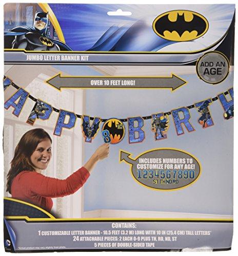 Batman Jumbo Add-An-Age Happy Birthday Letter Banner