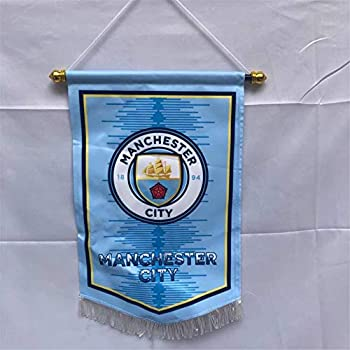 MCLAOSI Football Club soccer Indoor and Outdoor Flags Vivid Color Hanging Flags Decor for Bedroom/Club/Bar/Event/Fan merchandise  Manchester City