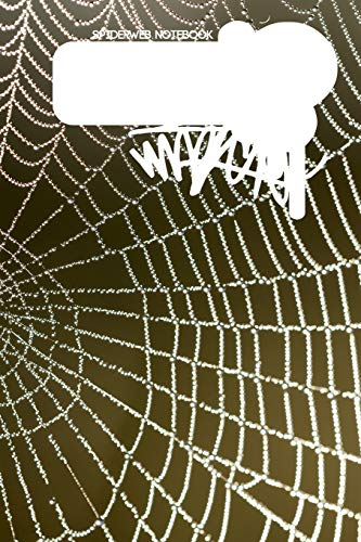 Spiderweb Notebook: 100 white blank college ruled pages 6x9inch(15x23cm) journal diary