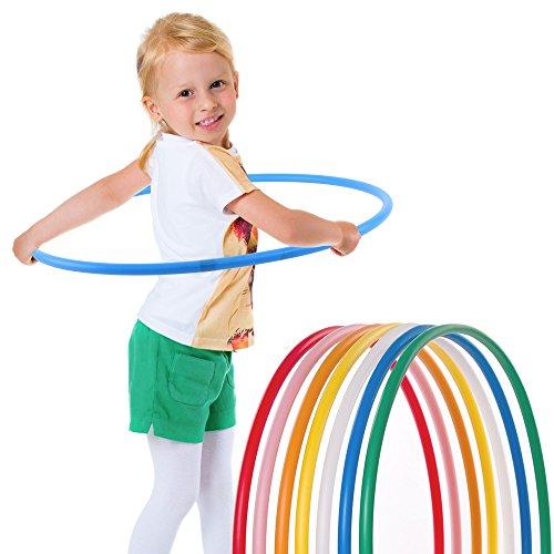 hoopomania® Kinder Hula Hoop Reifen, Durchmesser 75cm in blau