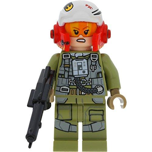 LEGO Star Wars - Figura de piloto de resistencia A-Wing Pilot (Tallissan Tallie Lintra)