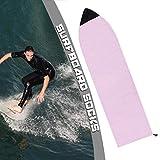 SCXLF Tablas de Surf Funda Protectora, Calcetines a Rayas de Skimboards, Bolsas a Prueba de Polvo Anti-Rayos UV, Múltiples Colores/Tamaños, para Instalaciones de Esquí de Playa,Rosado,230 * 50