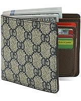 Mens Slim Front Pocket Wallet RFID Blocking Bifold Wallet With Gift Box (BLue)