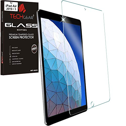 TECHGEAR Anti-Glare Screen Protector for iPad Air 3rd Gen (2019) 10.5' - MATTE GLASS Edition Genuine Tempered Glass Screen Protector Guard Cover Compatible with Apple iPad Air 3rd Generation