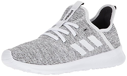 adidas Women's Cloudfoam Pure Running Shoe, white/white/black, 6.5 Medium US