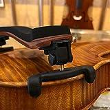 Braun + Schwarz verstellbare Geigen-Schulterstütze Gummipolster für 3/4 4/4 Größe Geigeninstrument Zubehör für Geiger