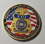 FBI Federal Bureau of Investigation IAD Colorized Challenge Art Coin