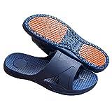 Cxypeng Zapatillas de Ducha para Mujer,Zapatillas para la Tercera Edad, Zapatillas de baño, Zapatos de Masaje para embarazadas-43-44_ Azul Marino,Sandalias de Punta Descubierta