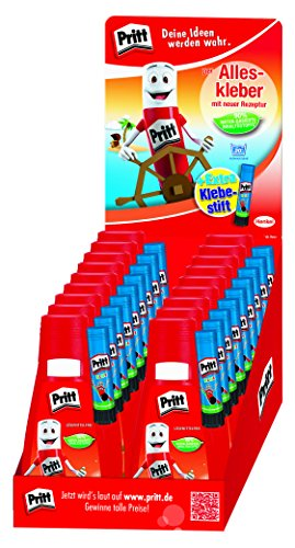 Pritt escuela mochila escuela pegamento, multiusos, 18Botellas–paksl–por 100G de punta de bola