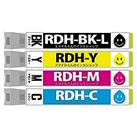 EP社用 RDH-4CL 4色セット 互換インクカートリッジ【ICチップ付(残量表示機能付)】