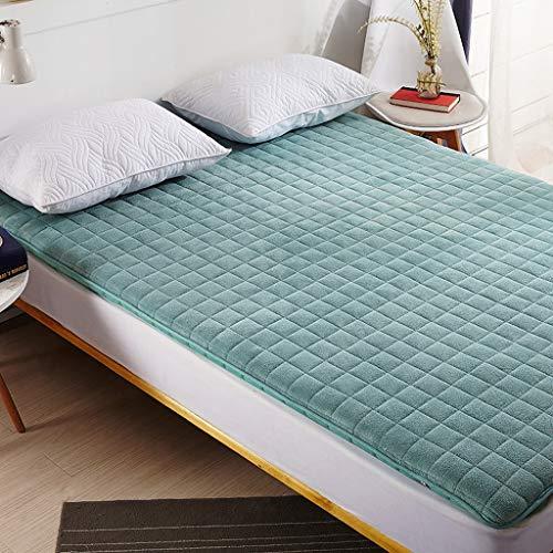 ZZCd Matras Topper Pad tegen spanning, opvouwbaar, slaapmat voor winter en zomer, slaapkamer, studenten, tatami-bed