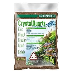 Kristall-Quarzkies Bodengrund Dunkelbraun