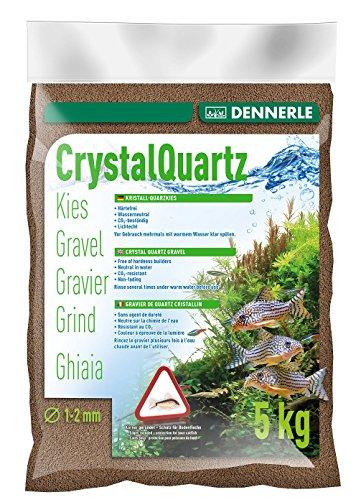 Dennerle Aquarienkies Dunkelbraun 5 kg - Bodengrund für Aquarien - Körnung 1-2 mm
