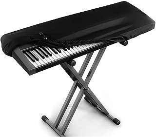 Velours extensible Noir Housse de protection pour Clavier piano 61 touches Clavier /électronique Couverture anti-poussi/ère pour Synth/étiseur Piano num/érique Yamaha Alesis Casio Roland